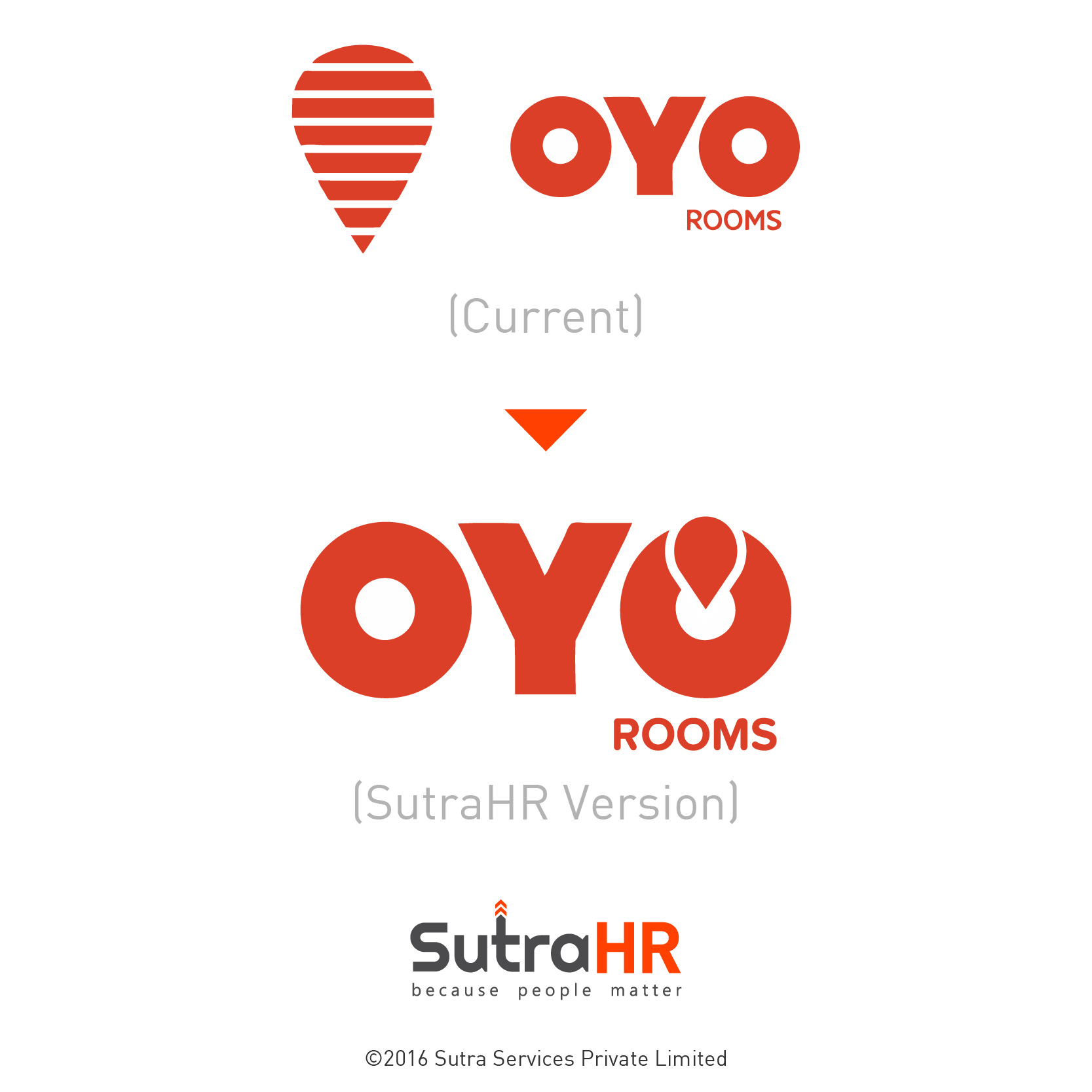 oyo rooms startup logo redesigned