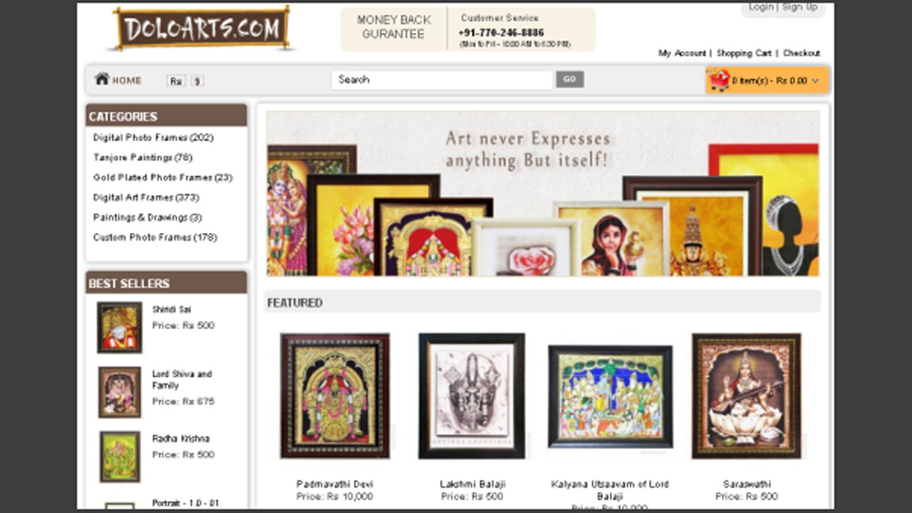 Religious eCommerce Site DoloArts Sells Frames & Paintings Online