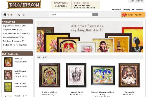 Religious eCommerce Site Doloarts