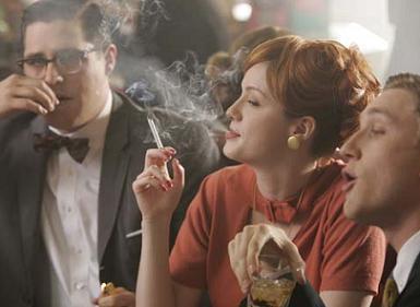 Joan, Harry and Ken Smoking