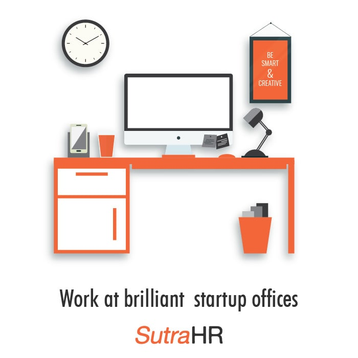 Work at brilliant statup office