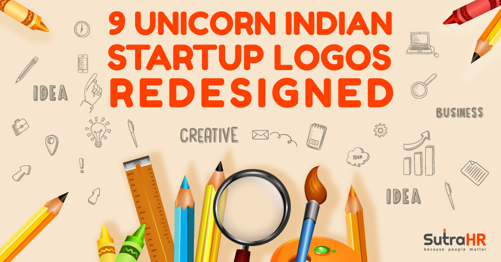 unicorn indian startup logos redesigned