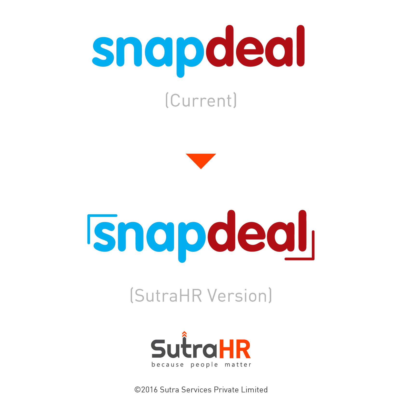 snapdeal startup logo redesigned
