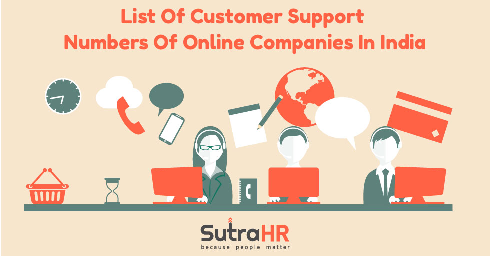list of customer care numbers in India